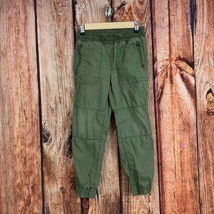 Gap Kids 100% Cotton Khaki Green Joggers 8 Regular